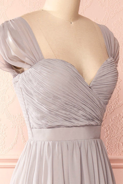 Aimi Moon Grey Sweetheart Bridesmaid Gown | Boudoir 1861 5