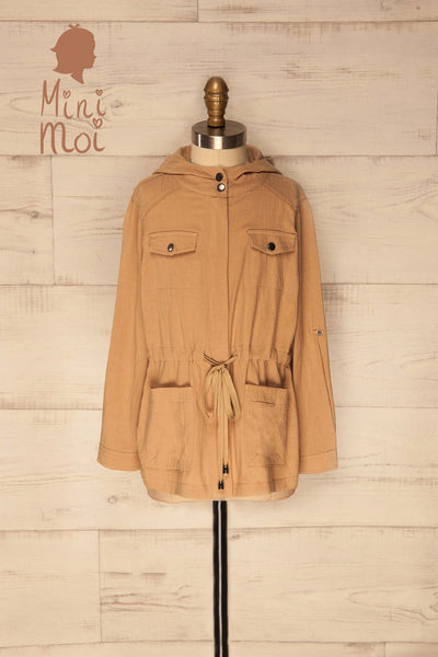 Ajina Mini Kids Camel Light Jacket with Hood | La Petite Garçonne