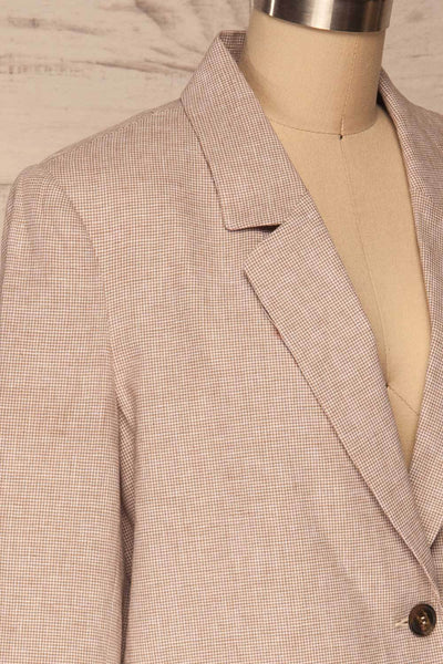 Alife Sand & White Linen Tailor Jacket side close up | La petite garçonne