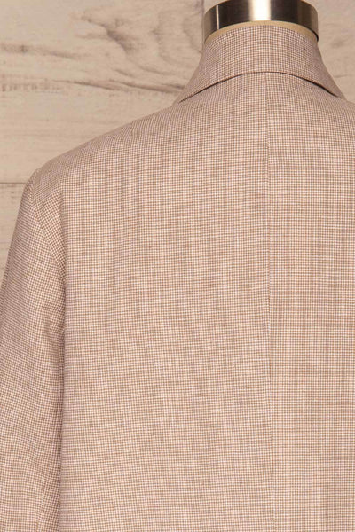 Alife Sand & White Linen Tailor Jacket back close up | La petite garçonne
