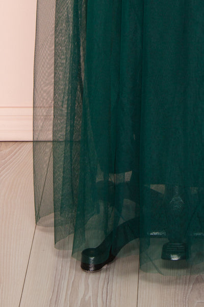 Aliki Green Forest Green Mesh Maxi Dress | Boutique 1861 7