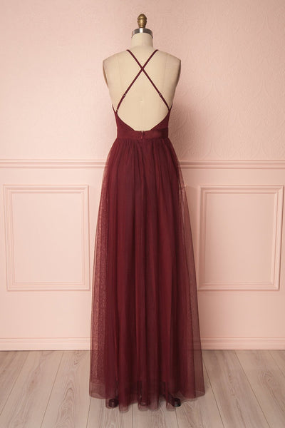 Aliki Wine | Mesh Maxi Dress