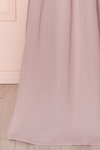 Alitta Mauve Lilac Embroidered Bodice Maxi Dress | Boudoir 1861 8