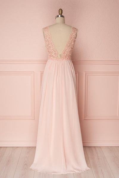 Alitta Pink Embroidered Bodice Maxi Dress | Boudoir 1861 6