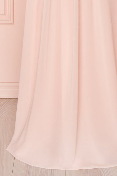 Alitta Pink Embroidered Bodice Maxi Dress | Boudoir 1861 8