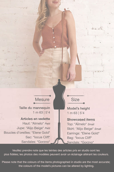 Alijo Beige Button-Up Mini Skirt w/ Pockets | La petite garçonne template 1