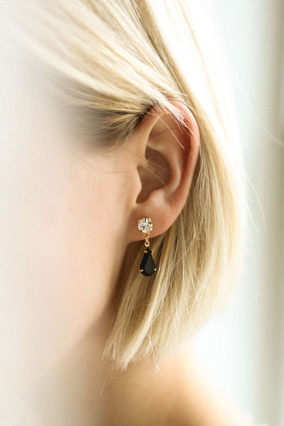 Alter Onyx Crystal Teardrop Pendant Earrings | Boutique 1861