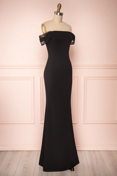 Alvery Black Mermaid Dress | Robe Maxi side view | Boutique 1861