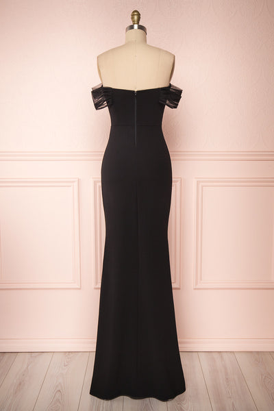 Alvery Black Mermaid Dress | Robe Maxi back view | Boutique 1861