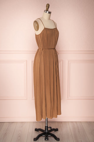 Alvis Camel Pleated Tunic Midi Dress | Boutique 1861 3