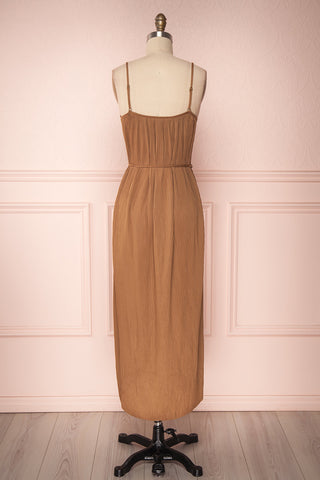 Alvis Camel Pleated Tunic Midi Dress | Boutique 1861 5