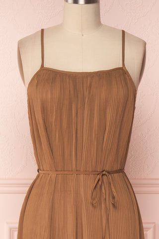 Alvis Camel Pleated Tunic Midi Dress | Boutique 1861 2
