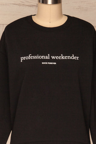 Alvito Black ''Professional Weekender'' Sweater | FONT CLOSE UP | La Petite Garçonne