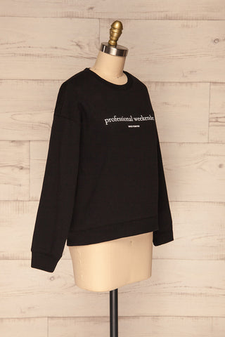 Alvito Black ''Professional Weekender'' Sweater | SIDE VIEW | La Petite Garçonne