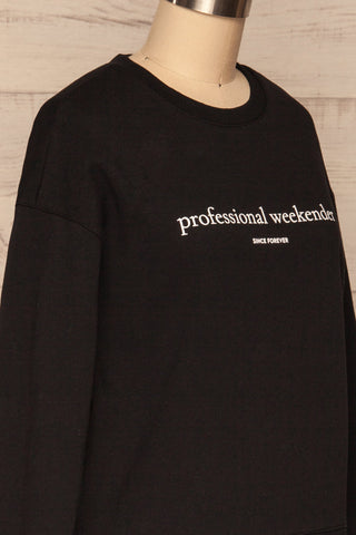 Alvito Black ''Professional Weekender'' Sweater | SIDE CLOSE UP | La Petite Garçonne