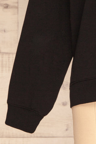 Alvito Black ''Professional Weekender'' Sweater | SLEEVE CLOSE UP | La Petite Garçonne