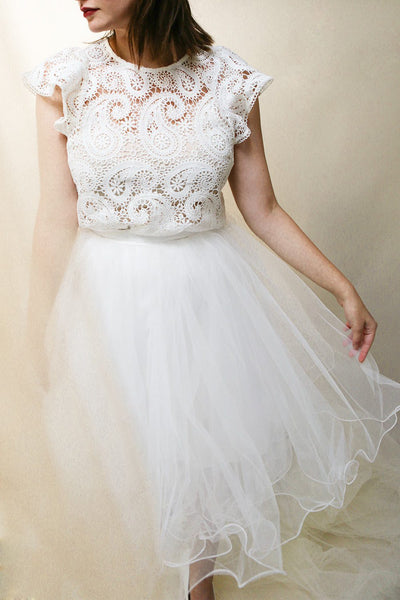 Zana White Tulle Voluminous A-Line Skirt | Boudoir 1861 2