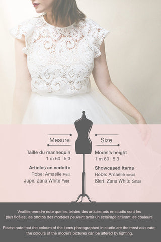 Zana White Tulle Voluminous A-Line Skirt | Boudoir 1861 10