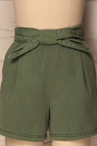 Amarousi Khaki Shorts with Fabric Belt | La Petite Garçonne 2