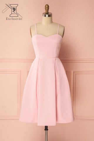 Améliane Pink A-Line Cocktail Dress | Boutique 1861