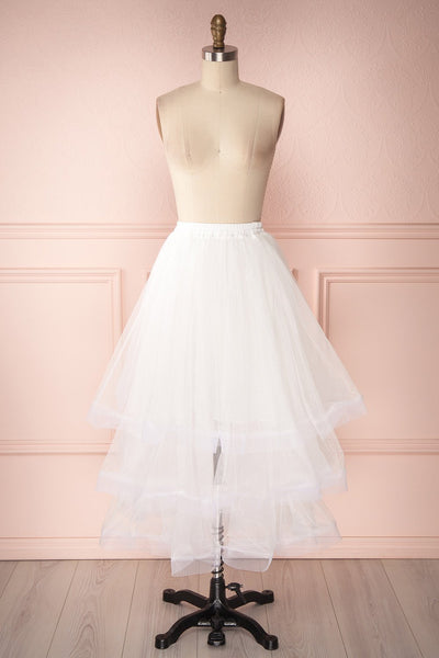 Aminthe White Layered Tulle Bridal Skirt | Boudoir 1861 1