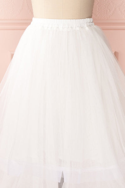 Aminthe White Layered Tulle Bridal Skirt | Boudoir 1861 3