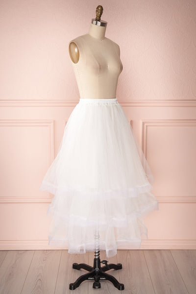 Aminthe White Layered Tulle Bridal Skirt | Boudoir 1861 4