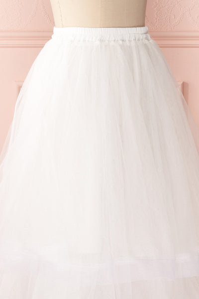 Aminthe White Layered Tulle Bridal Skirt | Boudoir 1861 5