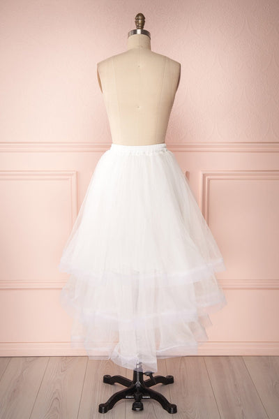 Aminthe White Layered Tulle Bridal Skirt | Boudoir 1861 6