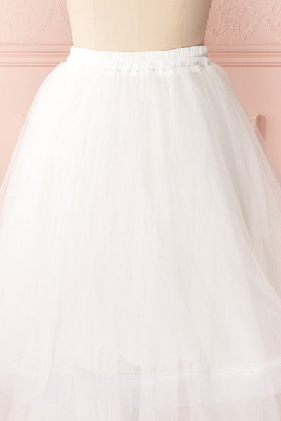 Aminthe White Layered Tulle Bridal Skirt | Boudoir 1861 7
