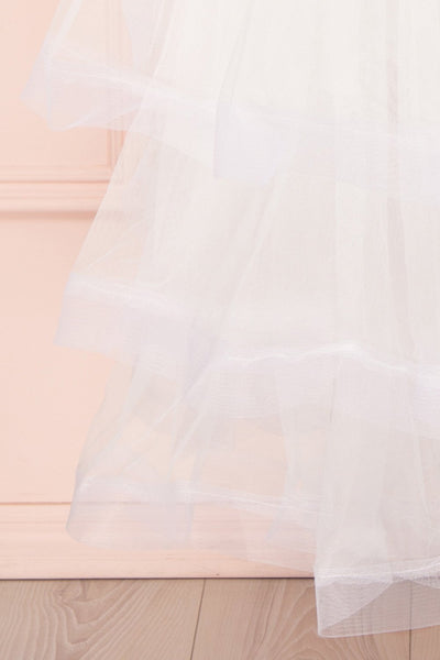 Aminthe White Layered Tulle Bridal Skirt | Boudoir 1861 2