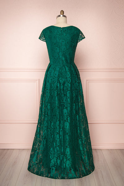 Anaick Green Lace A-Line Maxi Gown | Boutique 1861 5