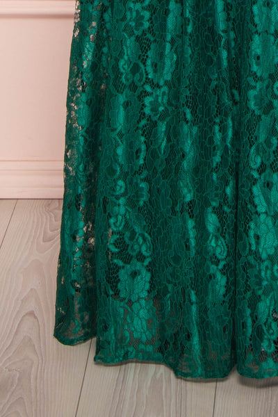 Anaick Green Lace A-Line Maxi Gown | Boutique 1861 7