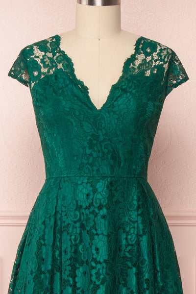 Anaick Green Lace A-Line Maxi Gown | Boutique 1861 2