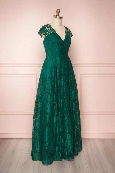 Anaick Green Lace A-Line Maxi Gown | Boutique 1861 3
