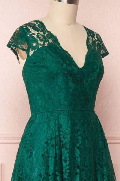 Anaick Green Lace A-Line Maxi Gown | Boutique 1861 4