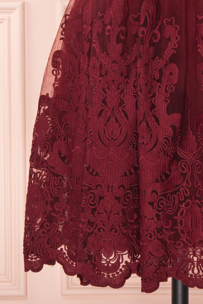 Andela Burgundy Lace A-Line Cocktail Dress | Boutique 1861 7