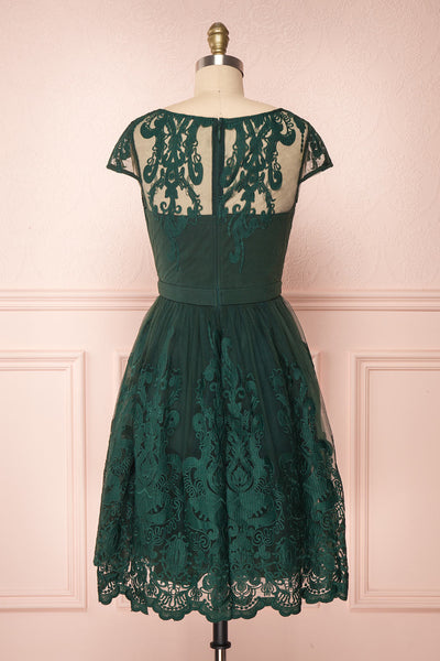Andela Green Lace A-Line Cocktail Dress | Boutique 1861 5