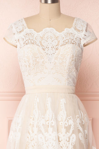 Andela Ivory Lace A-Line Cocktail Dress | Boudoir 1861 2