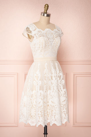 Andela Ivory Lace A-Line Cocktail Dress | Boudoir 1861 3