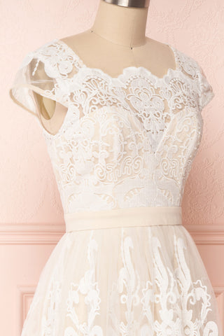 Andela Ivory Lace A-Line Cocktail Dress | Boudoir 1861 4