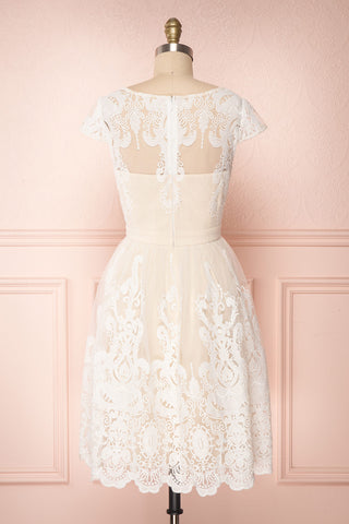 Andela Ivory Lace A-Line Cocktail Dress | Boudoir 1861 5