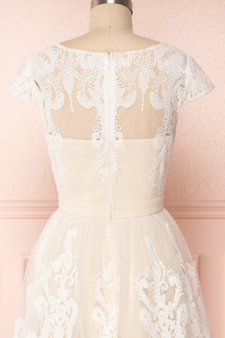 Andela Ivory Lace A-Line Cocktail Dress | Boudoir 1861 6