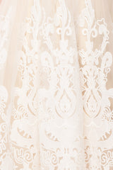 Andela Ivory Lace A-Line Cocktail Dress | Boudoir 1861 8