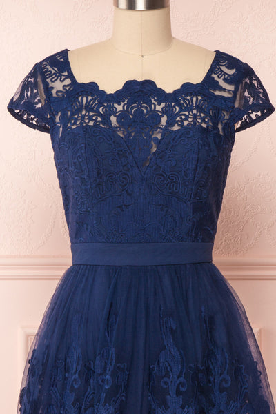 Andela Navy Blue Lace A-Line Cocktail Dress | Boutique 1861 2