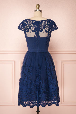 Andela Navy Blue Lace A-Line Cocktail Dress | Boutique 1861 5