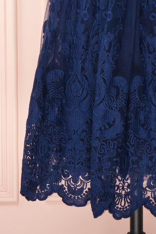 Andela Navy Blue Lace A-Line Cocktail Dress | Boutique 1861 7