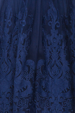 Andela Navy Blue Lace A-Line Cocktail Dress | Boutique 1861 8