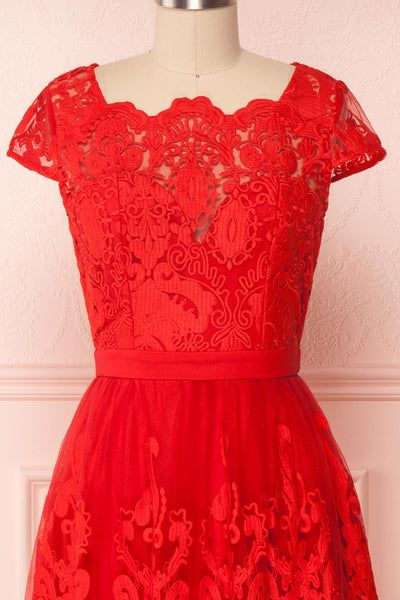 Andela Red Lace A-Line Cocktail Dress | Boutique 1861 2
