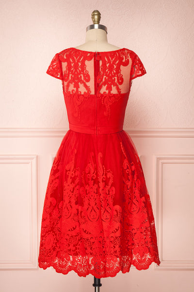 Andela Red Lace A-Line Cocktail Dress | Boutique 1861 5
